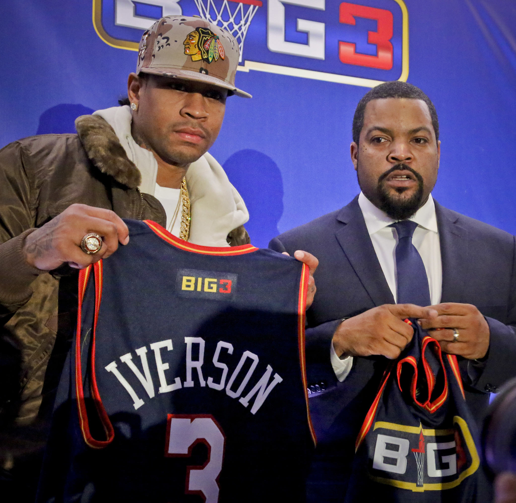 Allen Iverson Ice Cube launch 3 on 3 basketball league featuring