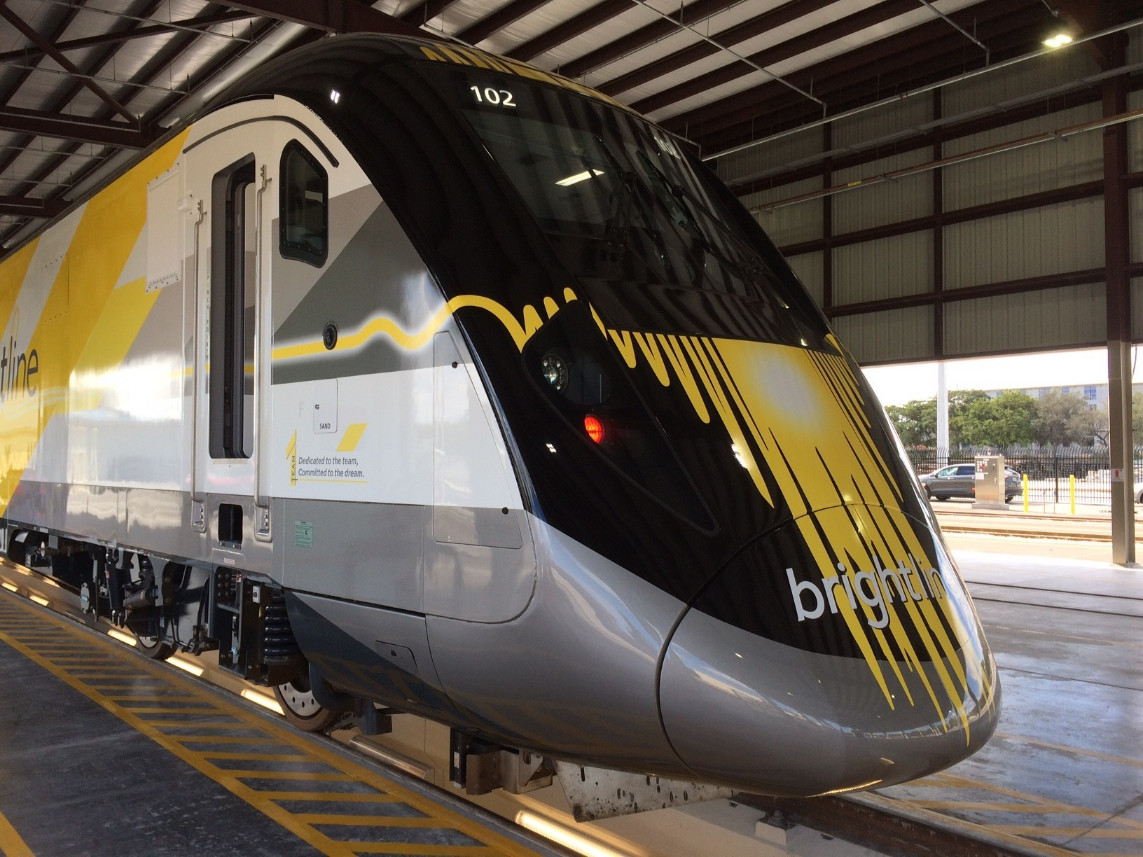 south florida gets first peek at brightline express train