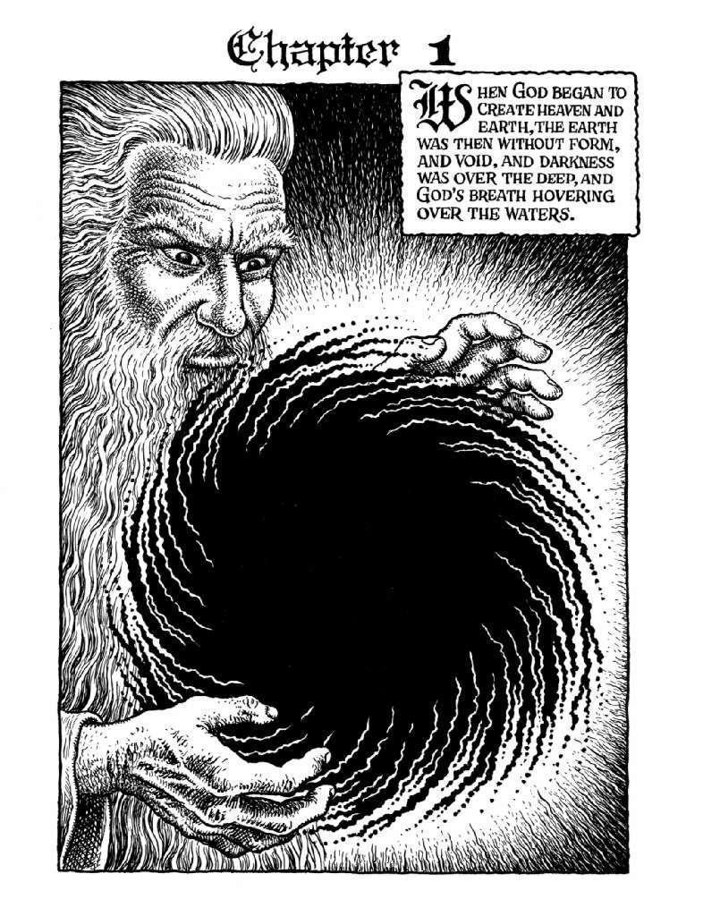 """R. Crumb, """"Genesis,"""" 2009, ink on paper"""
