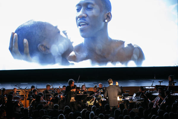 'Moonlight' screens to live music, packed crowd at downtown L.A.'s Million Dollar Theatre