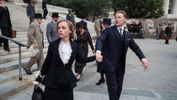 "Christina Ricci as Zelda Sayre Fitzgerald and David Hoflin as F. Scott Fitzgerald in the Amazon series drama ""Z: The Beginning of Everything."" (Nicole Rivelli / Amazon Prime Video)"
