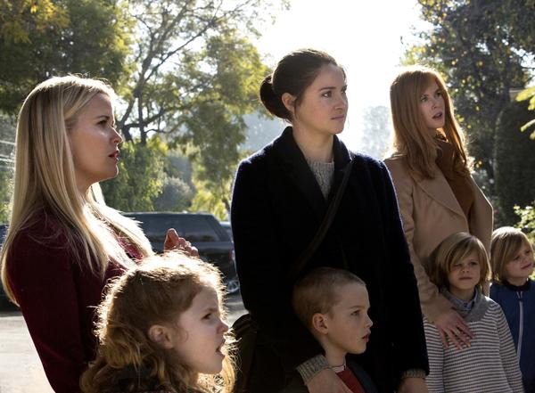"Reese Witherspoon, Darby Camp, Shailene Woodley, Iain Armitage, Nicole Kidman, Cameron Crovetti and Nicolas Crovetti in ""Big Little Lies."" (Hilary Bronwyn Gayle / HBO)"