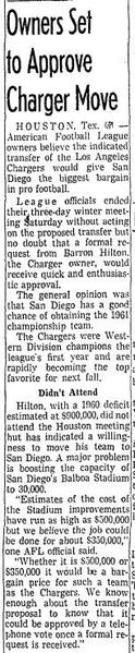 A news clip from the Los Angeles Times on Jan. 15, 1961. (Los Angeles Times)