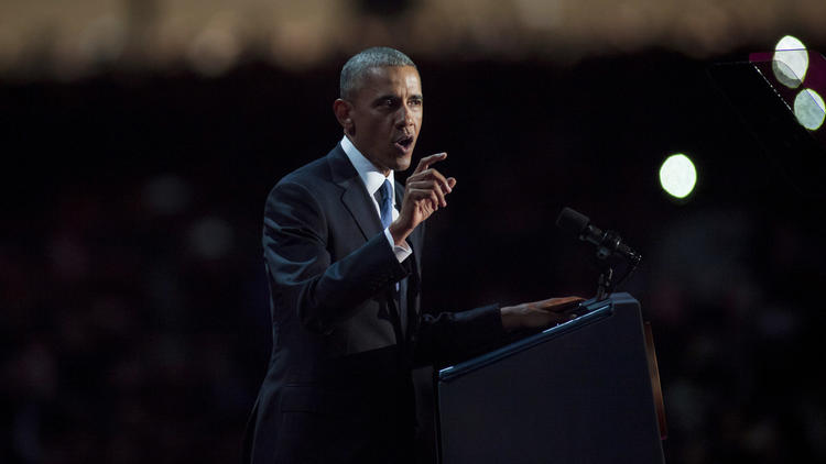 President Obama delivers his farewell speech Tuesday in Chicago.