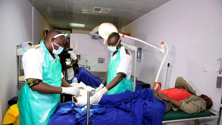 Military doctors were deployed last month to treat emergency cases at Nairobi's main government hospital, Kenyatta National Hospital.