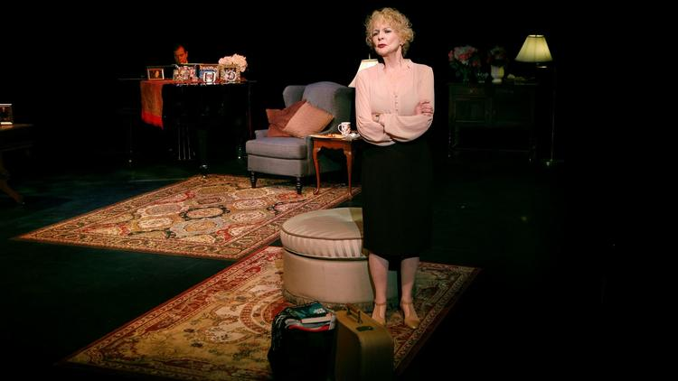 "Penny Fuller and Paul Greenwood in the musical ""13 Things About Ed Carpolotti"" at the Edye at the Broad Stage in Santa Monica."
