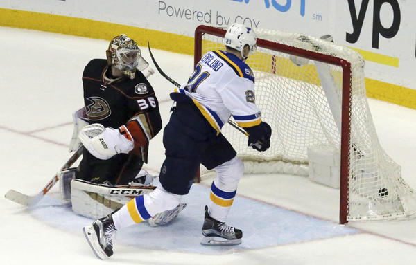 Ducks Drop Another Game In Overtime, 2-1 To The Blues