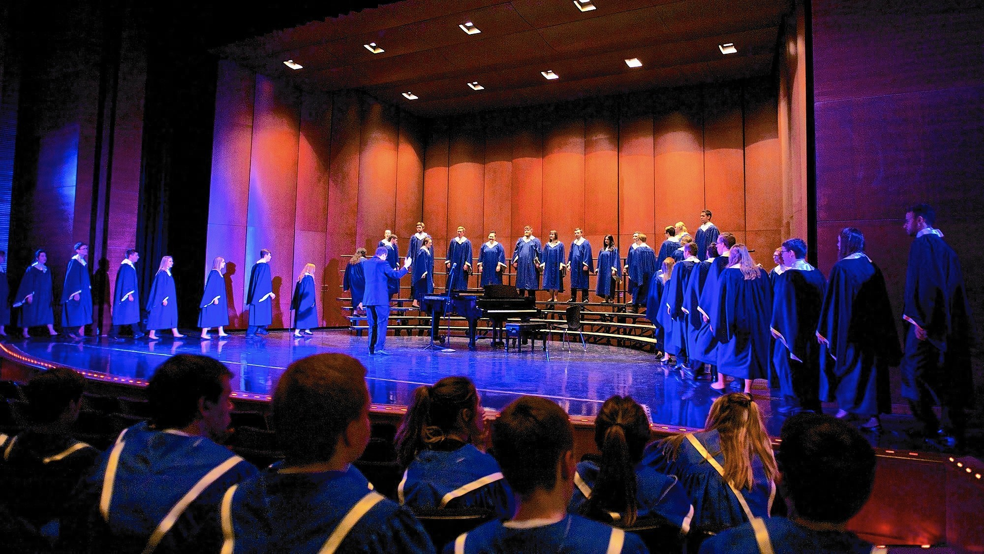 Lake zurich high school choir members put on a show with doane university students lake zurich courier