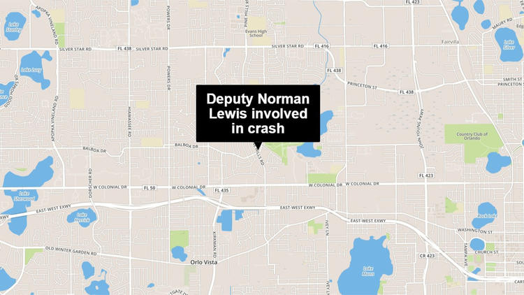 Deputy Nornan Lewis is involved in a fatal wreck while responding to manhunt