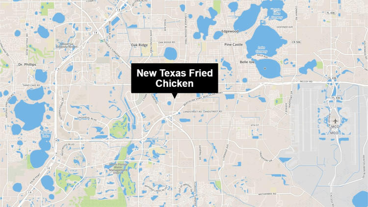 Location of New Texas Fried Chicken restaurant