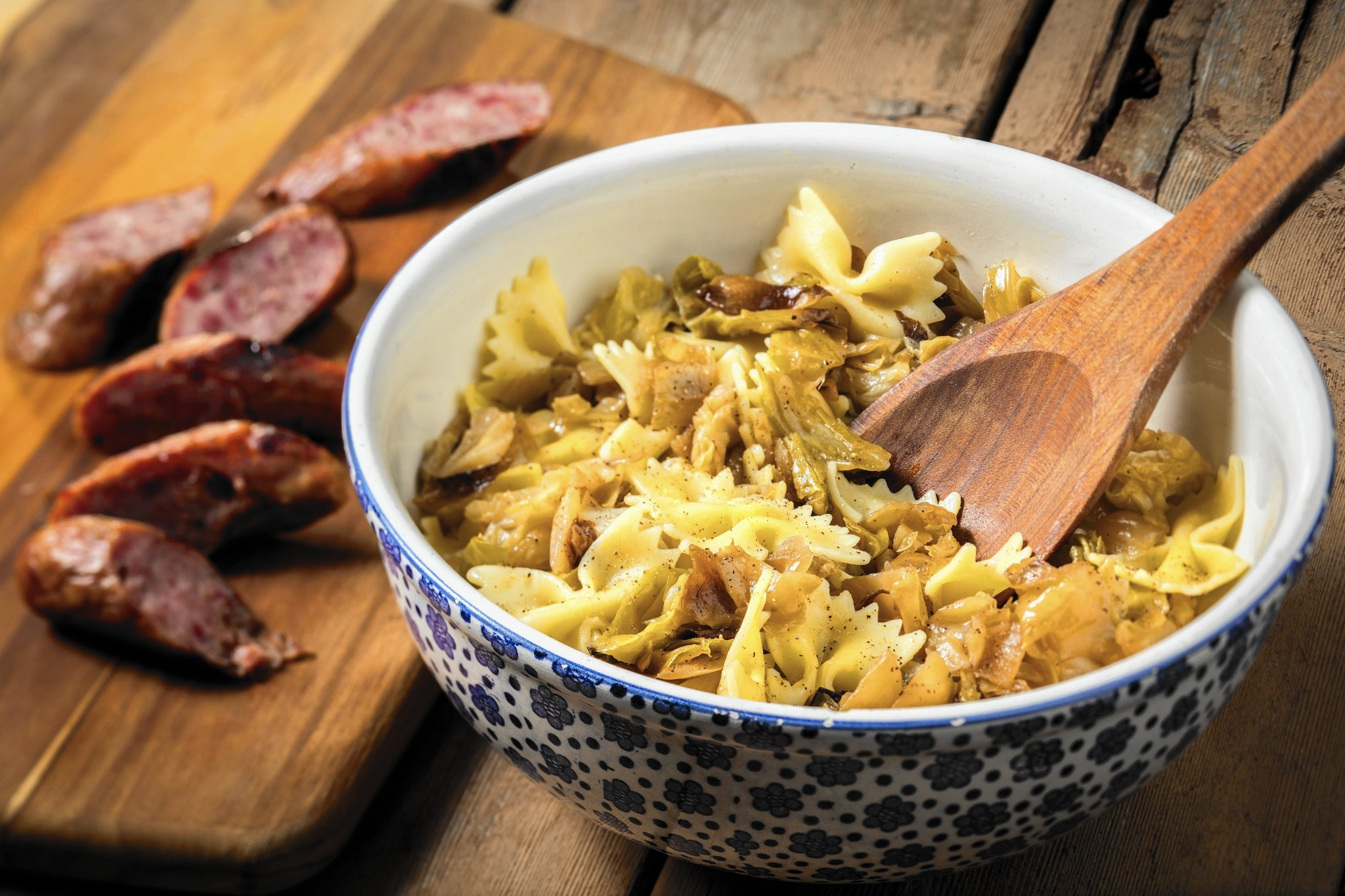 Cabbage cooked up sweet and tender turns into kapusta