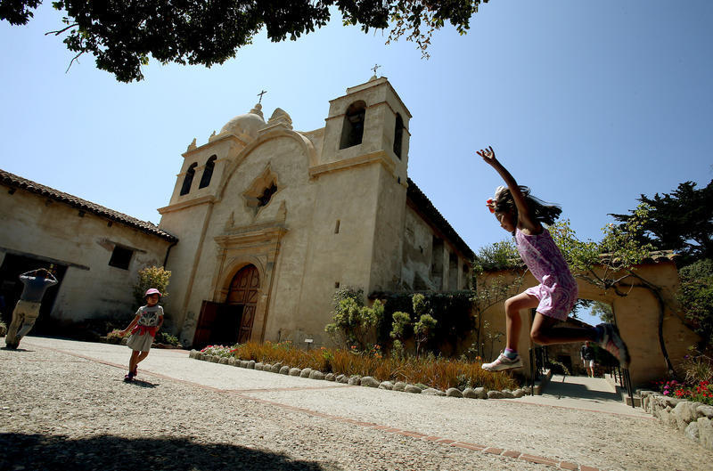 Ponder sainthood at the grave of Junípero Serra, who led the way for California's missions, in Carmel