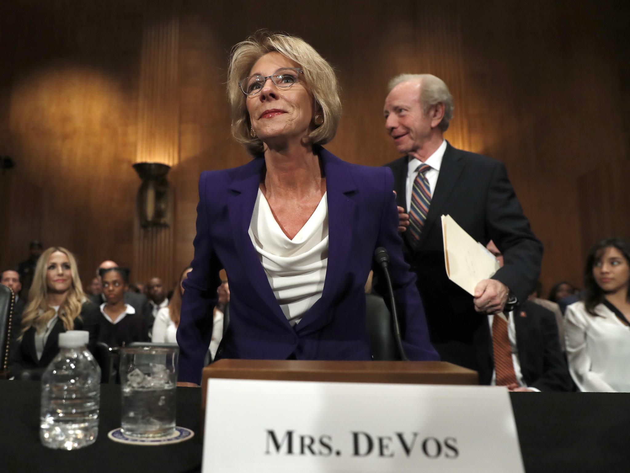 Education secretary pick betsy devos called bold reformer unfit
