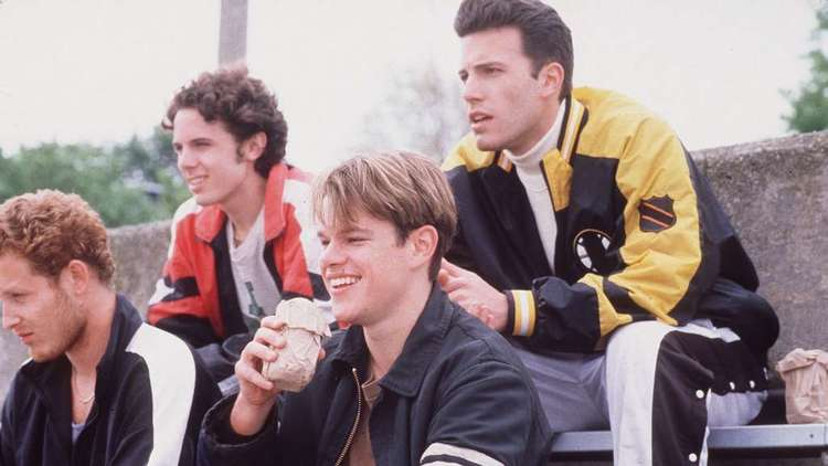 "From left to right, Cole Hauser, Casey Affleck, Matt Damon and Ben Affleck in Gus Van Sant's ""Good Will Hunting."""