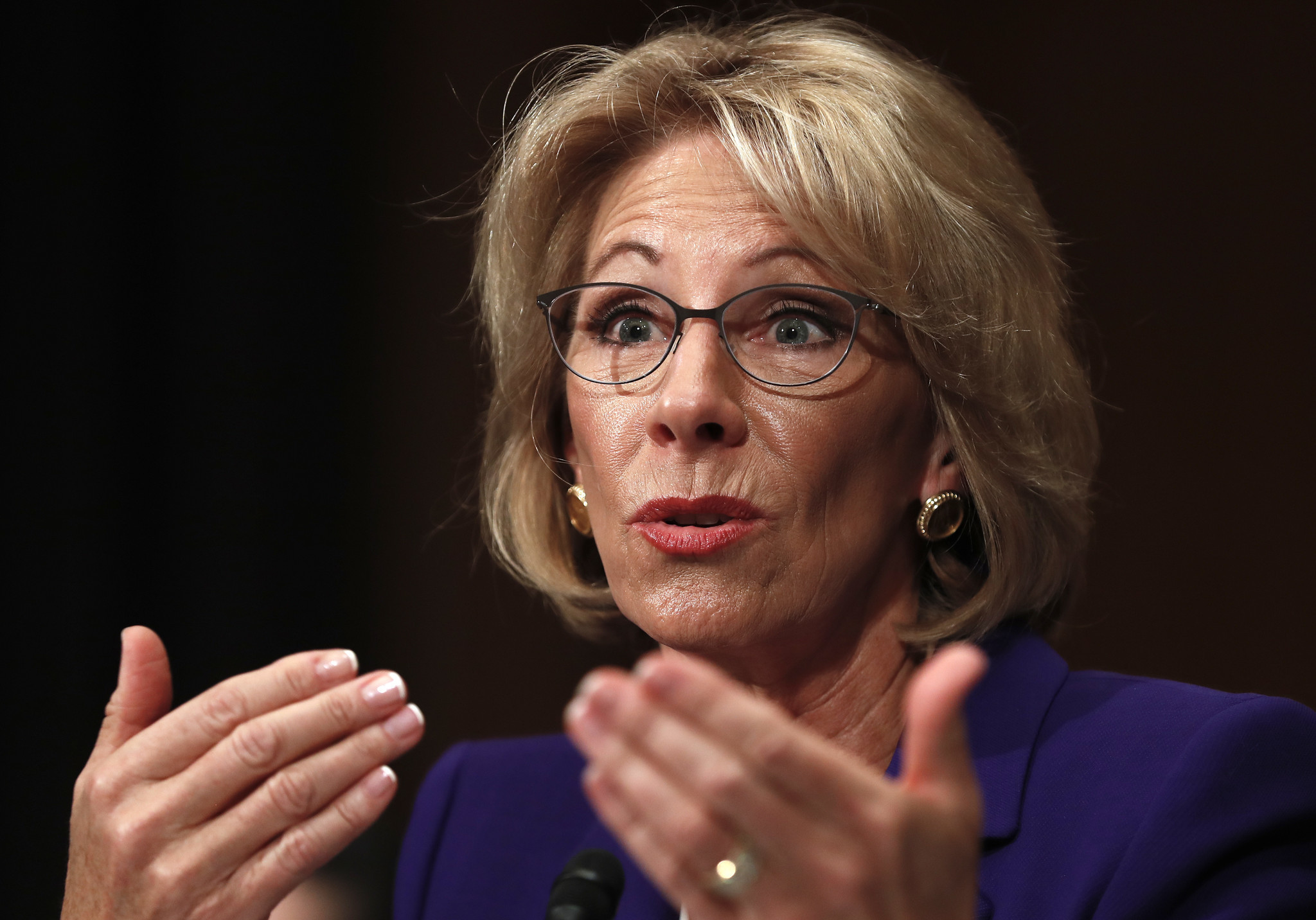 Betsy DeVos embarrassed herself and should be rejected by the Senate