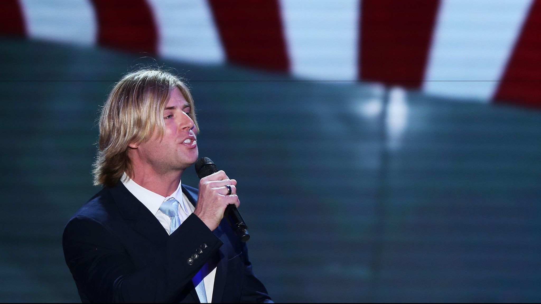 Beau Davidson performs during Republican National Convention in 2012.