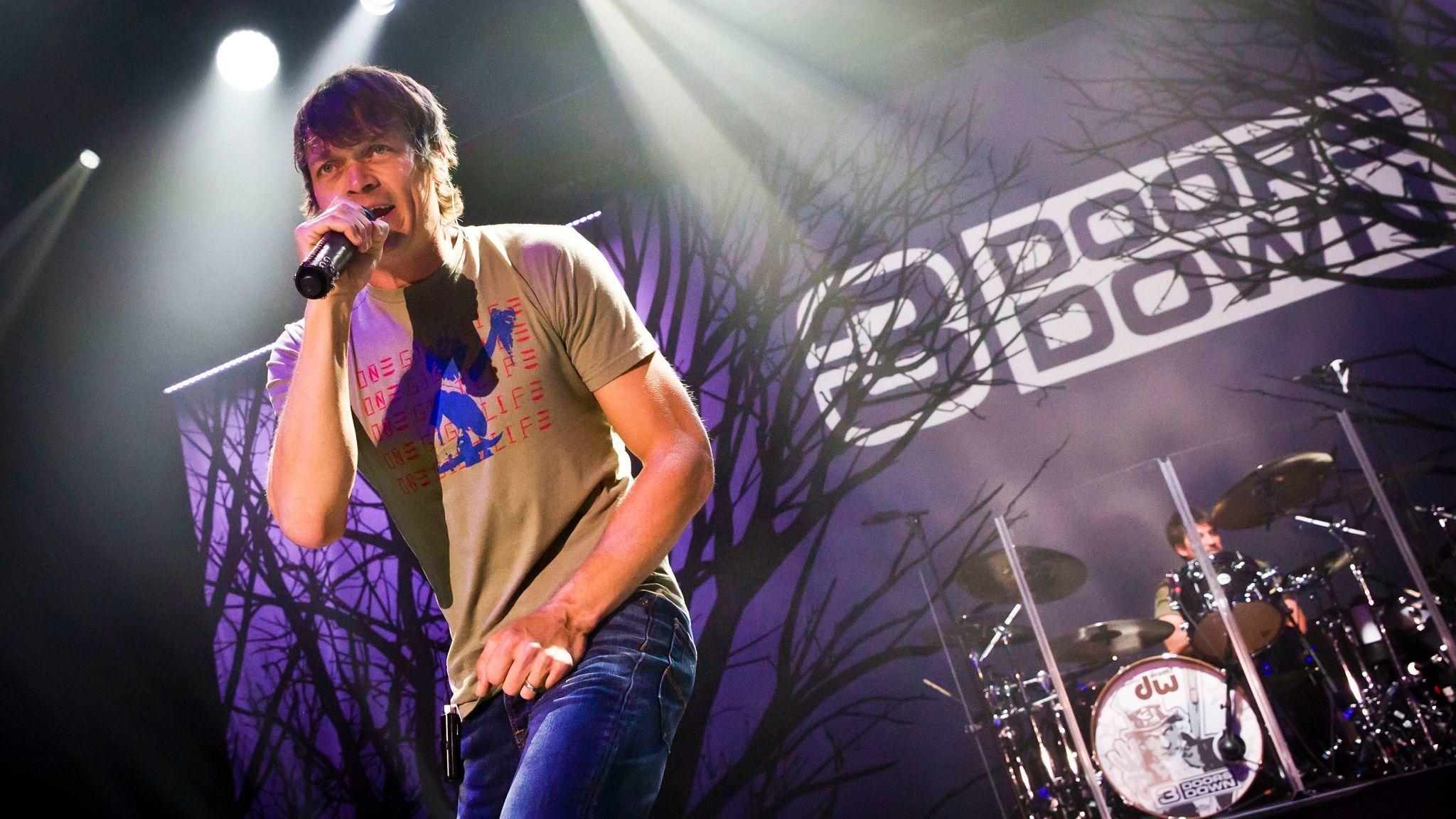 Singer Brad Arnold of 3 Doors Down performs in Berlin in 2016.