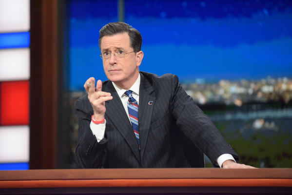 "Stephen Colbert on Thursday's episode of ""The Late Show with Stephen Colbert."" (Scott Kowalchyk / CBS)"