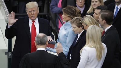 Donald Trump sworn in as 45th president of the United States of America