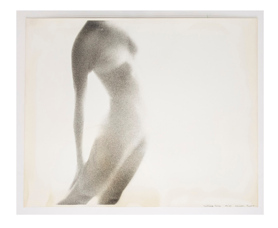 "Harry Callahan's ""Textured Torso (Proof #1), 1964, gelatin silver print, 16 inches by 20 inches."