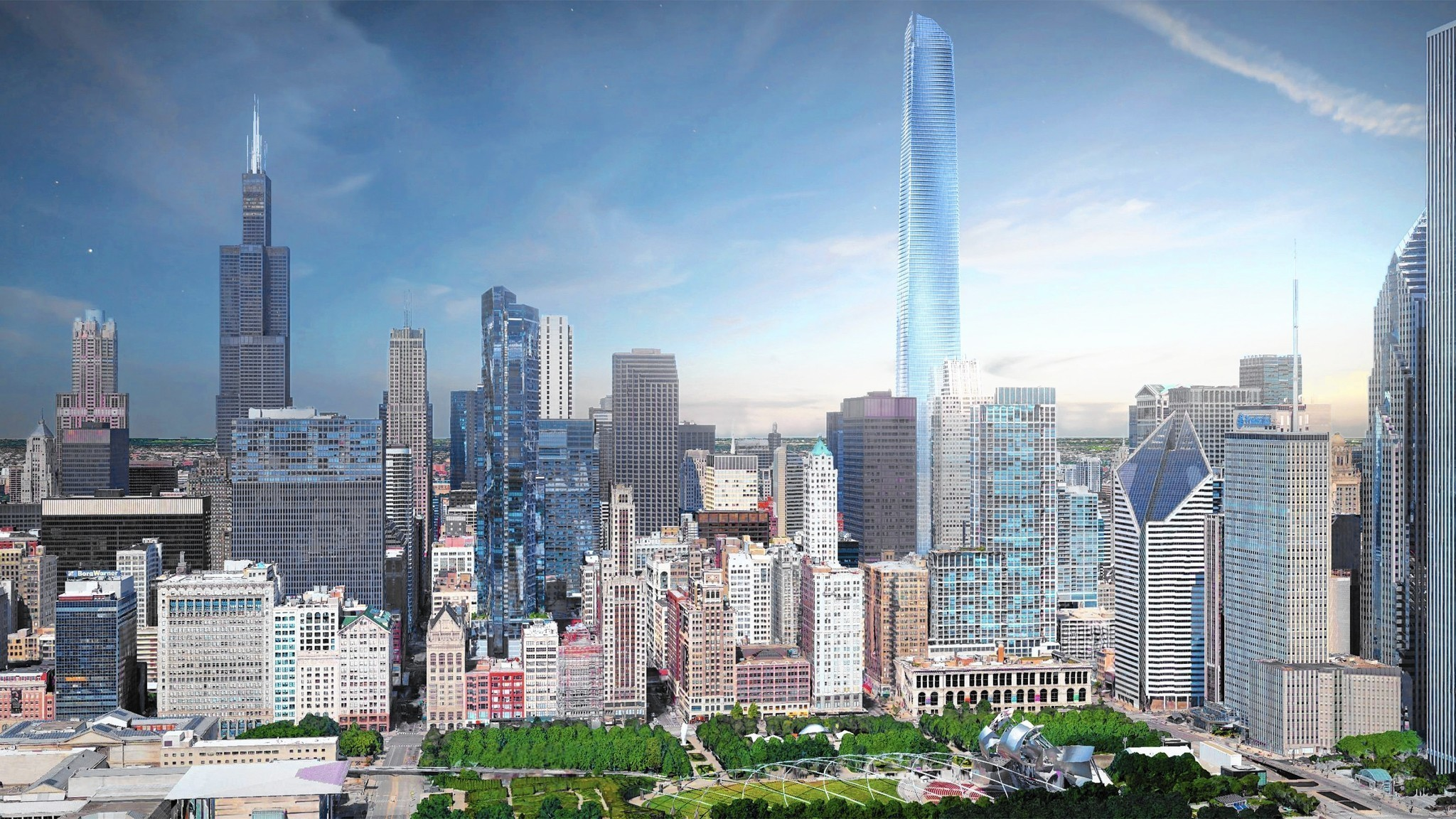 Plan calls for replacing Thompson Center with new tower ... Bruce Willis Tower