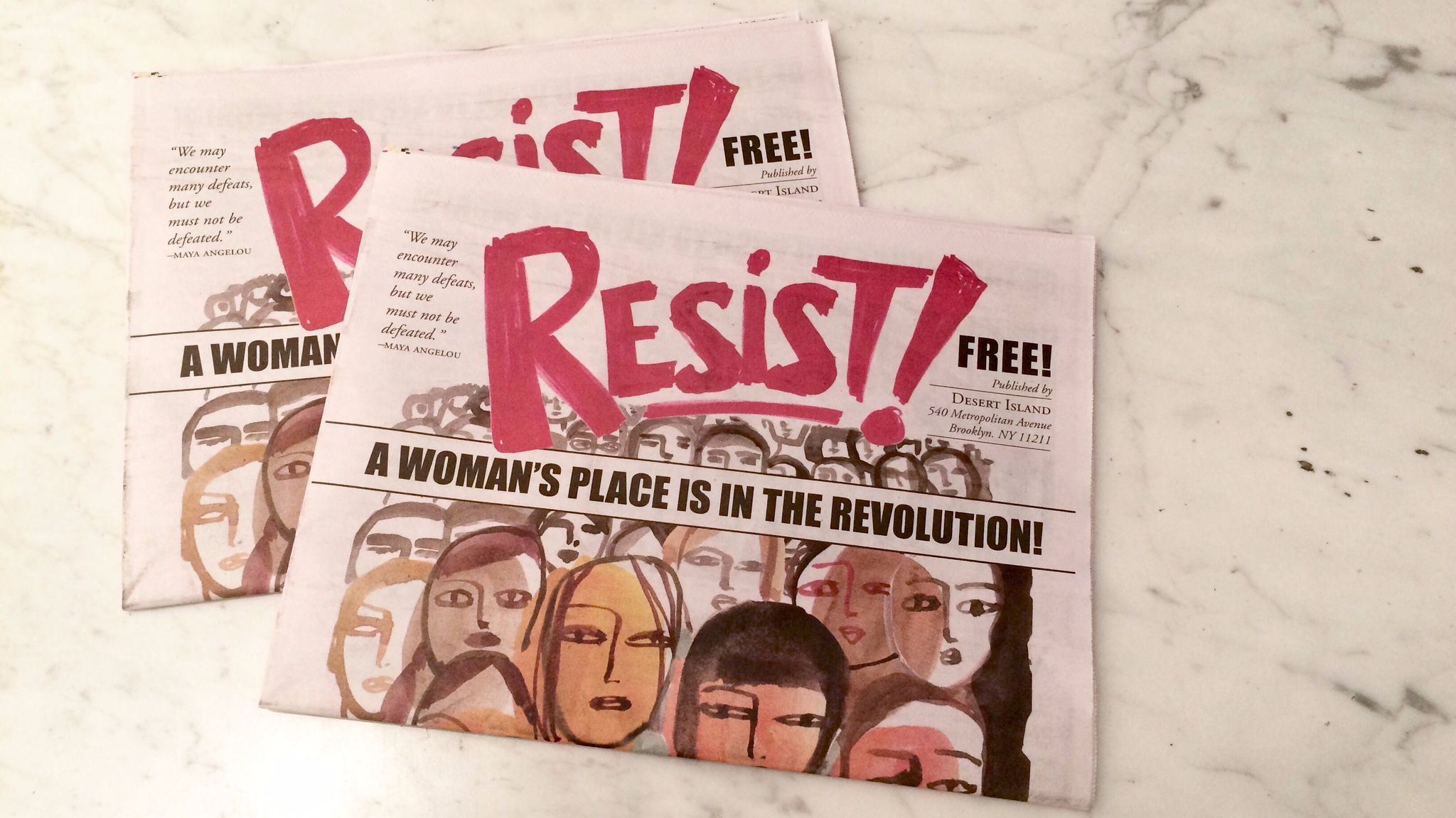 Artists' responses to President Trump have included this 40-page tabloid comic drawn by women. On Tuesday night, the artistic resistance moves to the stage. (Carolina Miranda / Los Angeles Times)