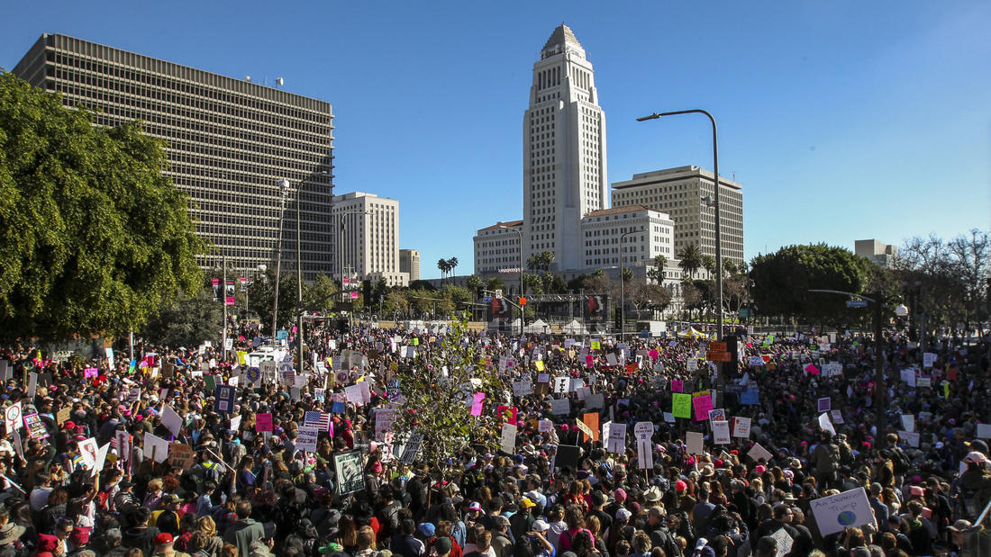 Here's an aerial view of the massive turnout at the women ...