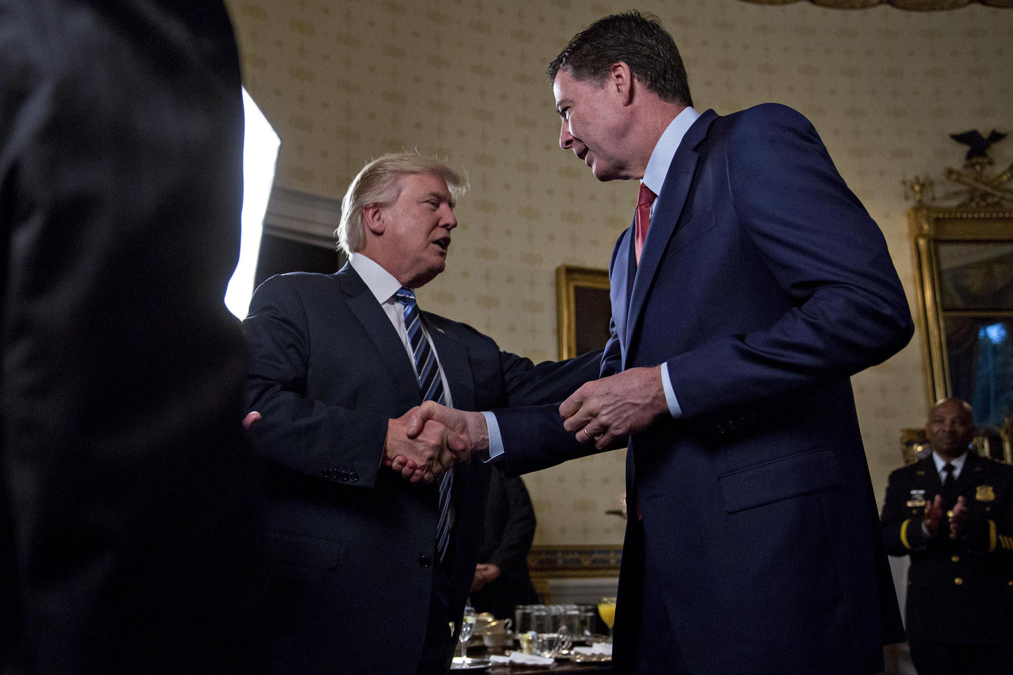 Comey Gets A Pat On The Back From Trump Chicago Tribune