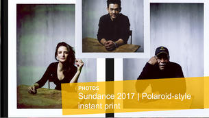 Polaroid-style instant print portraits from the L.A. Times photo studio at Sundance