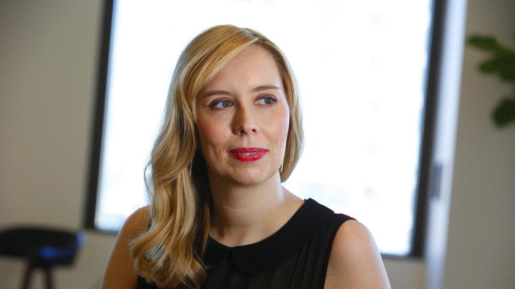 """Allison Schroeder, who co-wrote the screenplay for """"Hidden Figures,"""" has deep ties to NASA. (Kirk McKoy / Los Angeles Times)"""