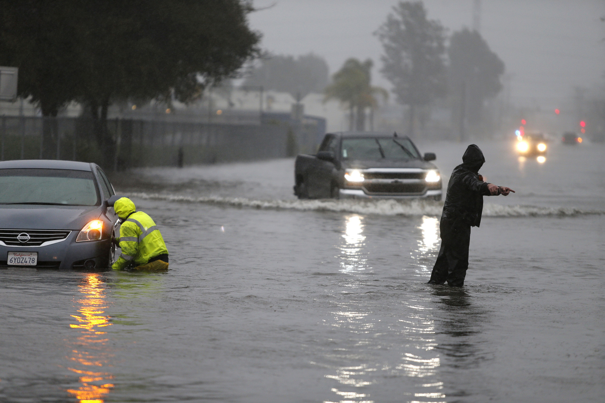 widespread flooding mudslides evacuations as biggest storm in