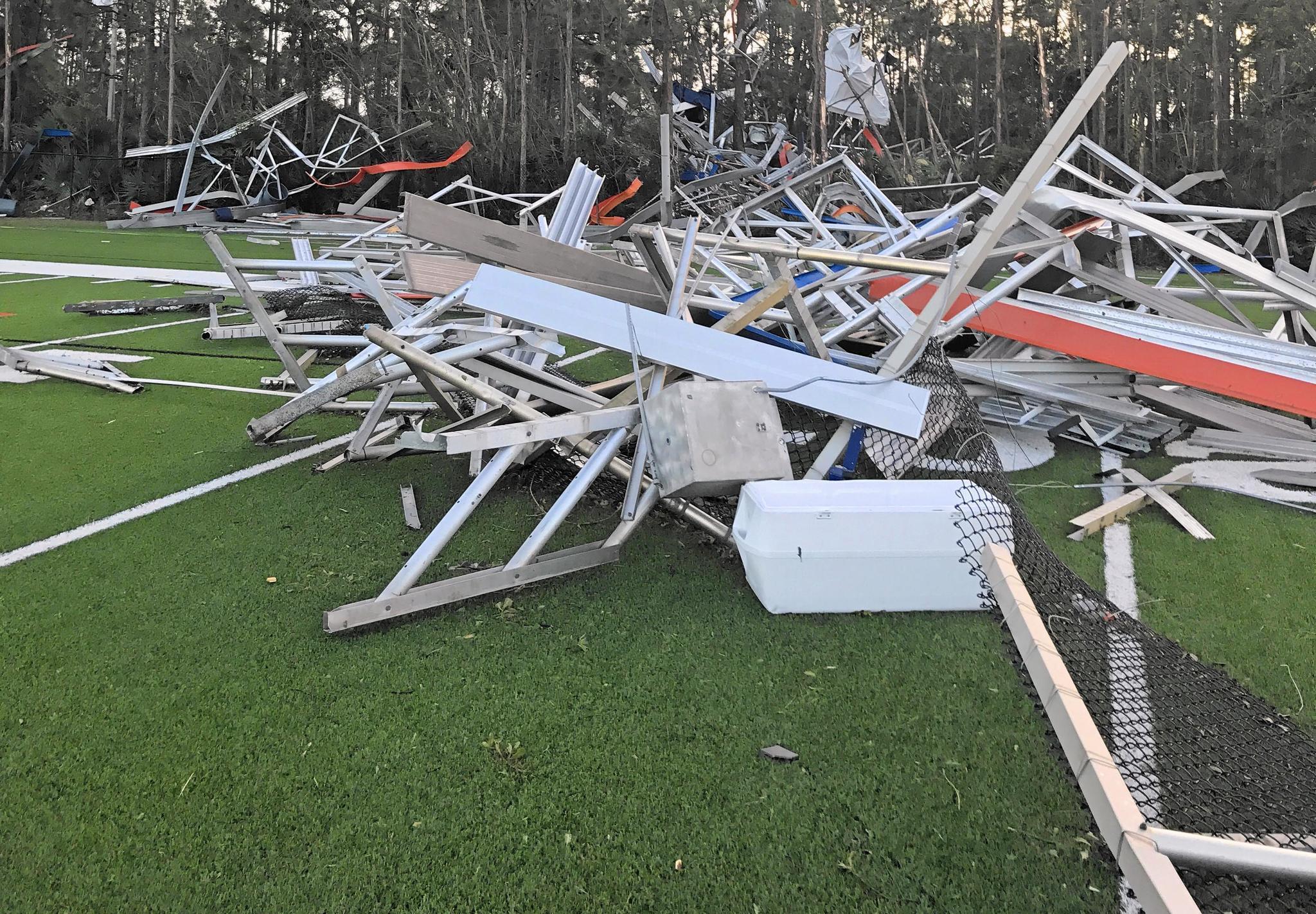 Benjamin, Dwyer athletic facilities suffer storm damage - Sun Sentinel