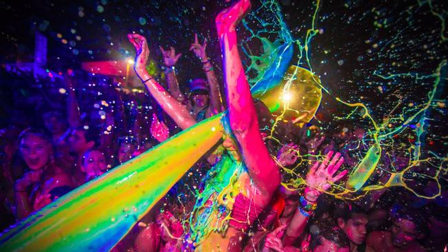 Life in Color sprays nontoxic, water-based paint on its partygoers.