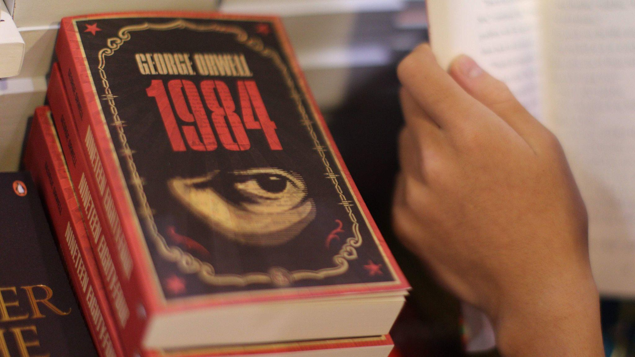 "George Orwell's ""1984"" is in high demand."