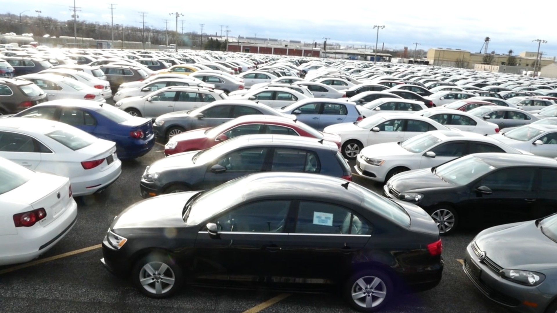 Thousands Of Returned Volkswagen Cars Stored In Baltimore