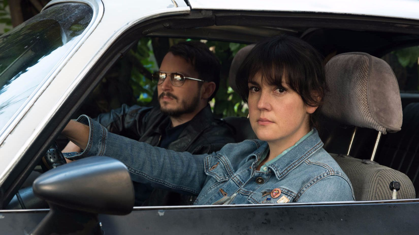 "Melanie Lynskey and Elijah Wood appear in Macon Blair's ""I Don't Feel at Home in This World Anymore,"" which won the U.S. grand jury prize in the dramatic category at the 2017 Sundance Film Festival. (Allyson Riggs / Courtesy of Sundance Institute)"