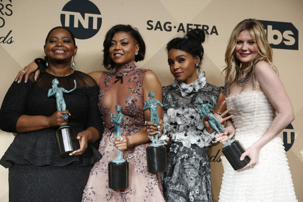 "Octavia Spencer, Taraji P. Henson, Janelle Monae and Kirsten Dunst of ""Hidden Figures."" (Mark Boster / Los Angeles Times)"