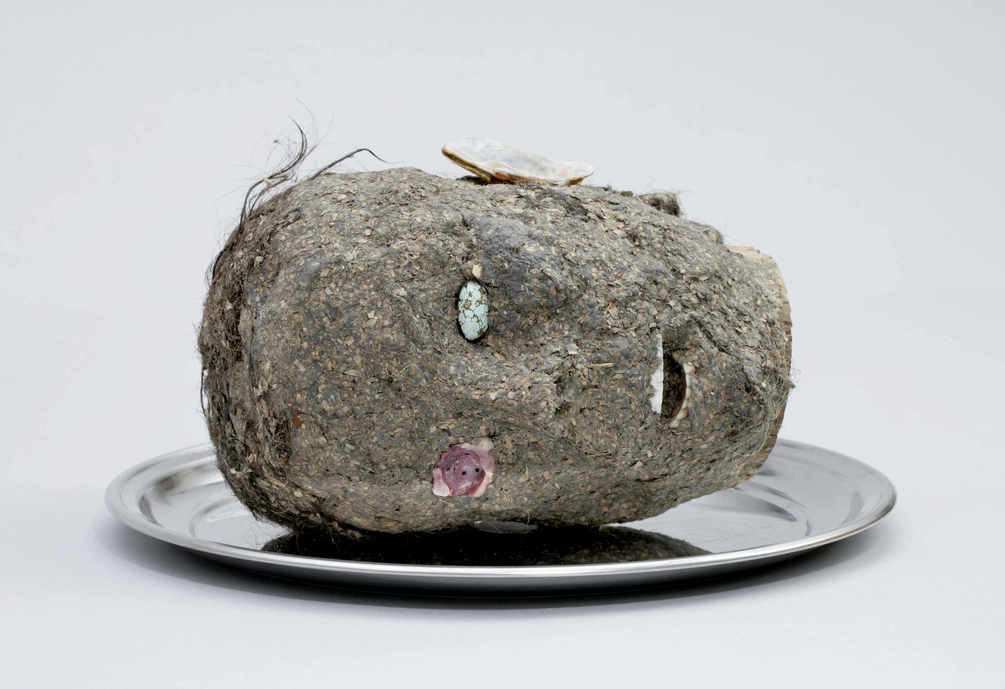 "Jimmie Durham, ""Head,"" 2006, mixed media."