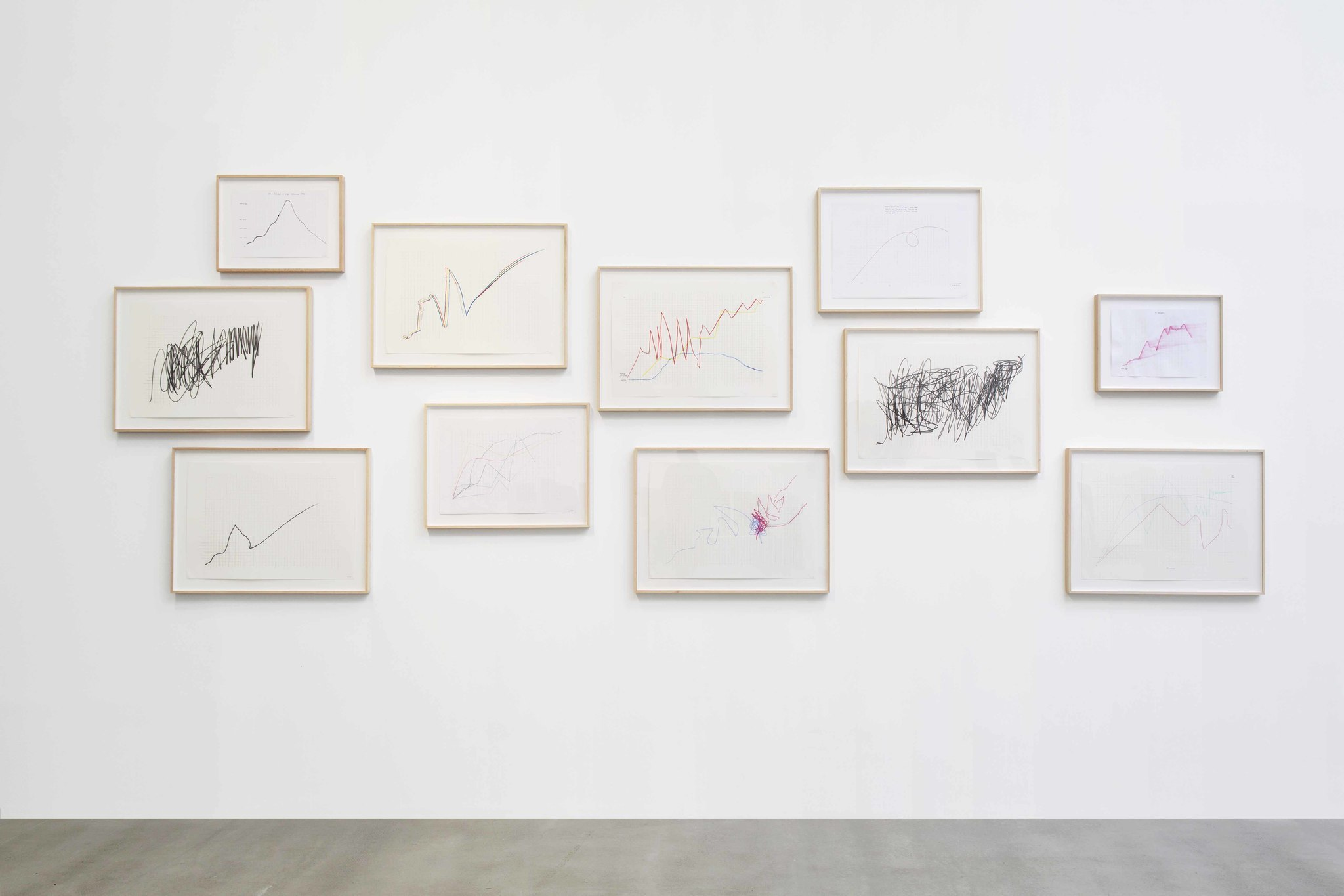 """Jimmie Durham, """"Untitled (On a Scale of One Through Ten),"""" 2013, graphite on paper."""