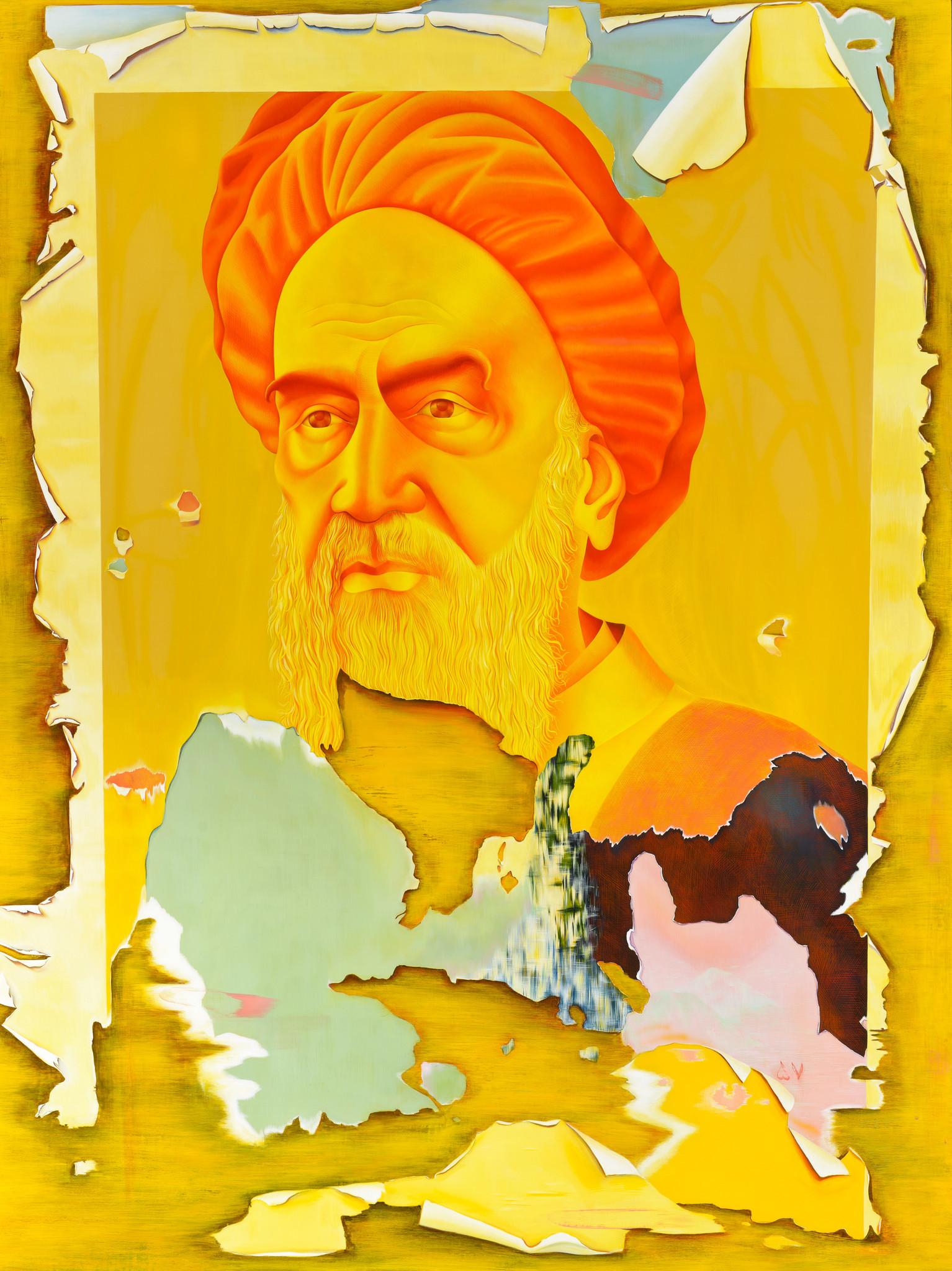 "Taravat Talepasand, ""Khomeini,"" 2015. Credit: Courtesy of"