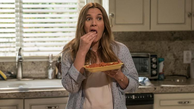 "Drew Barrymore is a Southern California housewife turned undead flesh-eater in the Netflix comedy ""Santa Clarita Diet."""