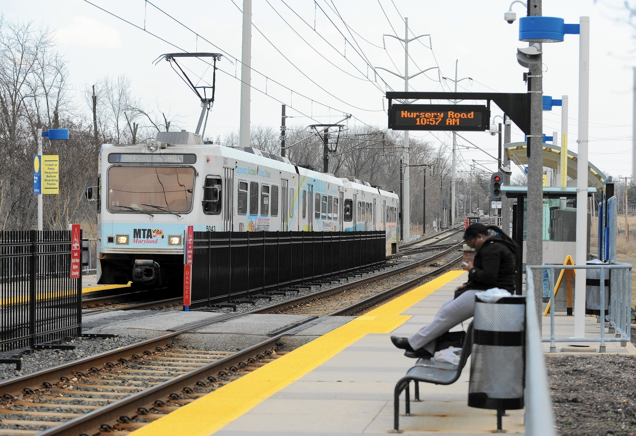 light rail service in downtown baltimore to halt this