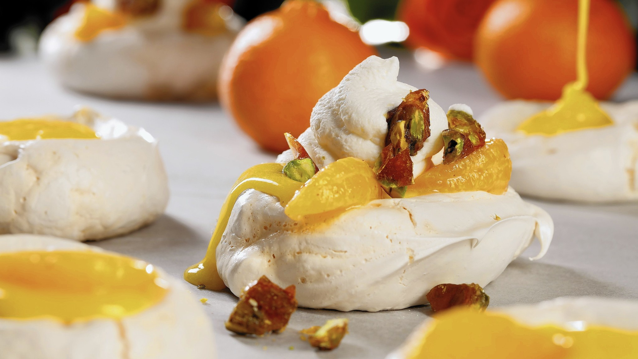 Whip up meringues to soft peaks, then load them up for Valentine's Day treats