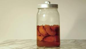 Peach bourbon