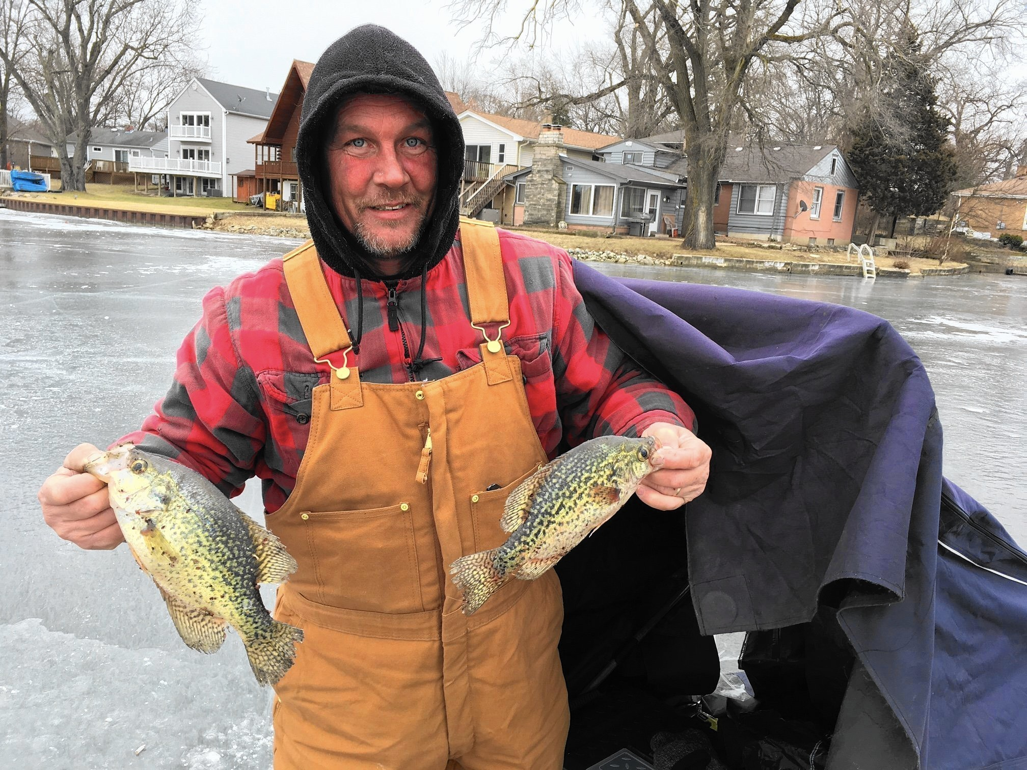 Island lake ice fishing derby draws nearly 100 competitors for Ice fishing derby