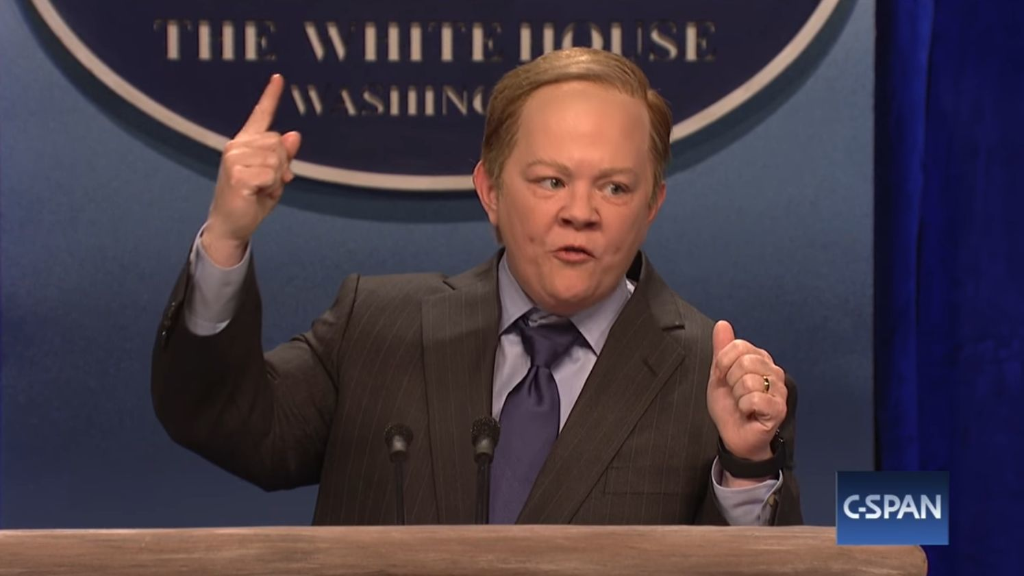 ... is scathing as Sean Spicer on 'Saturday Night Live' - LA Times