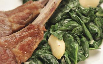 Sautéed spinach with garlic confit