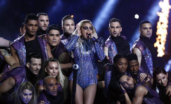 Lady Gaga and friends (EPA)