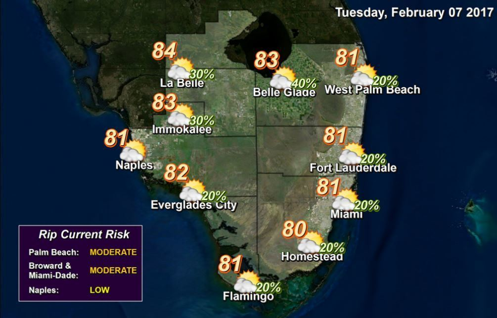 tuesday s weather   sun sentinel