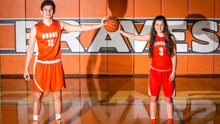 Jordan and Maddy Morales of Boone basketball